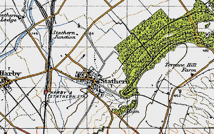 Old map of Barkestone Wood in 1946