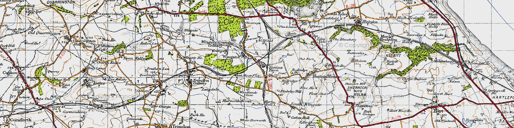 Old map of Woodlands Close in 1947