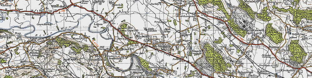 Old map of Tin Hill in 1947