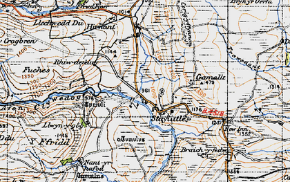 Old map of Staylittle in 1947
