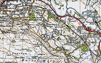 Old map of Ashlar Chair in 1947