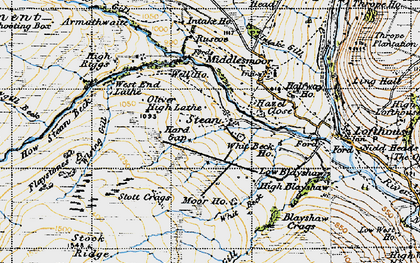 Old map of Backstean Gill in 1947