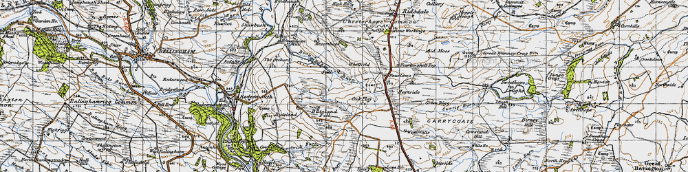 Old map of Tone Hall in 1947