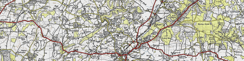Old map of Steep in 1945