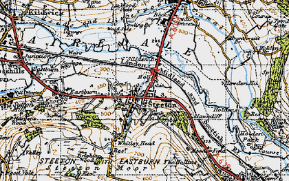 Old map of Steeton in 1947
