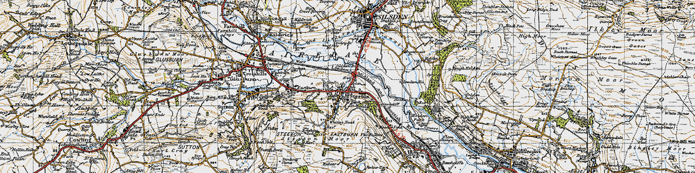 Old map of Airedale in 1947