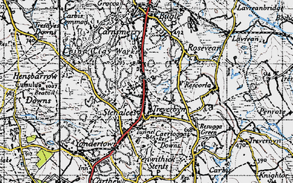 Old map of Stenalees in 1946