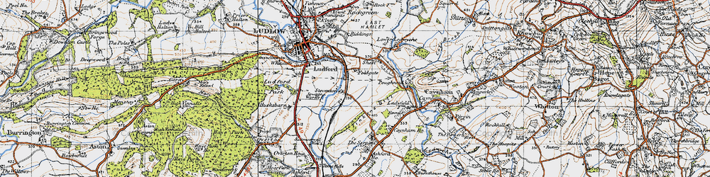 Old map of Tinkers Hill in 1947