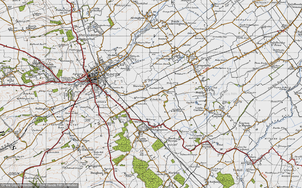 Old Map of Stewton, 1946 in 1946