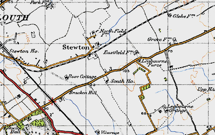 Old map of Legbourne Furze in 1946