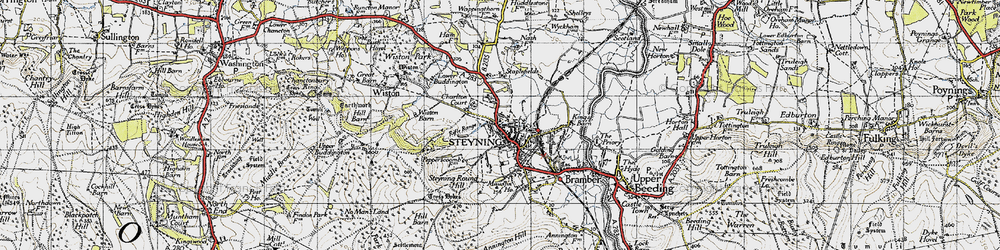 Old map of Wiston Barn in 1940