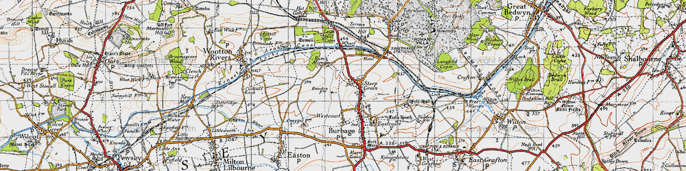 Old map of Stibb Green in 1940