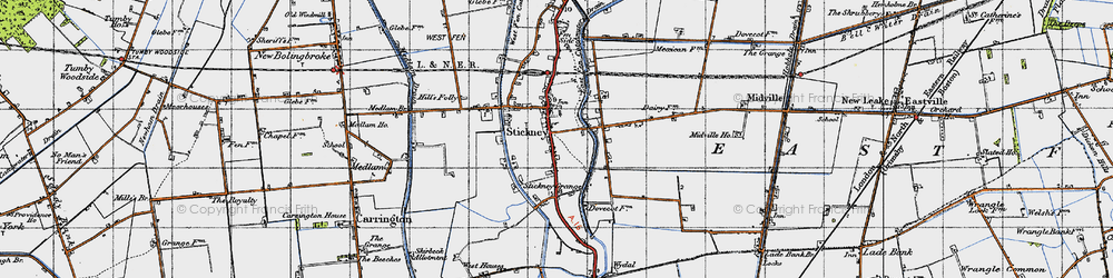 Old map of Whyte Acre in 1946