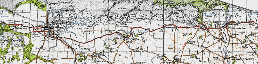Old map of West Sand in 1946