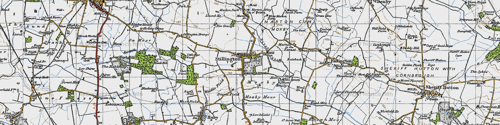 Old map of Stillington in 1947