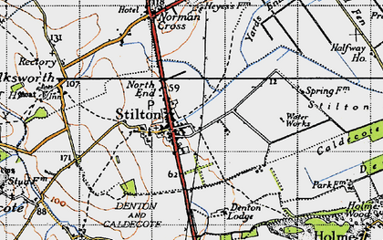 Old map of Stilton in 1946