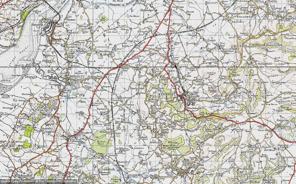 Old Map of Historic Map covering Yercombe Lodge in 1946