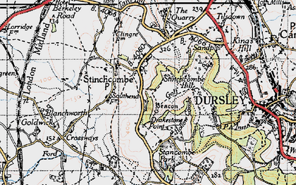 Old map of Stinchcombe in 1946