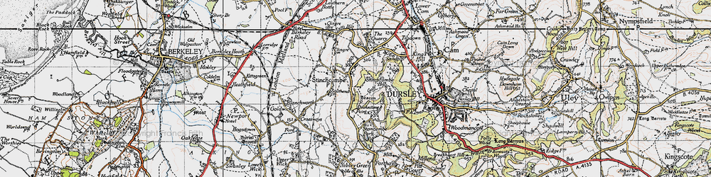 Old map of Yercombe Lodge in 1946