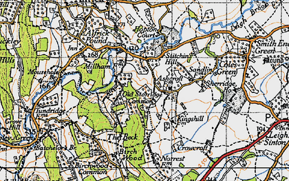 Old map of Ashcroft Ho in 1947