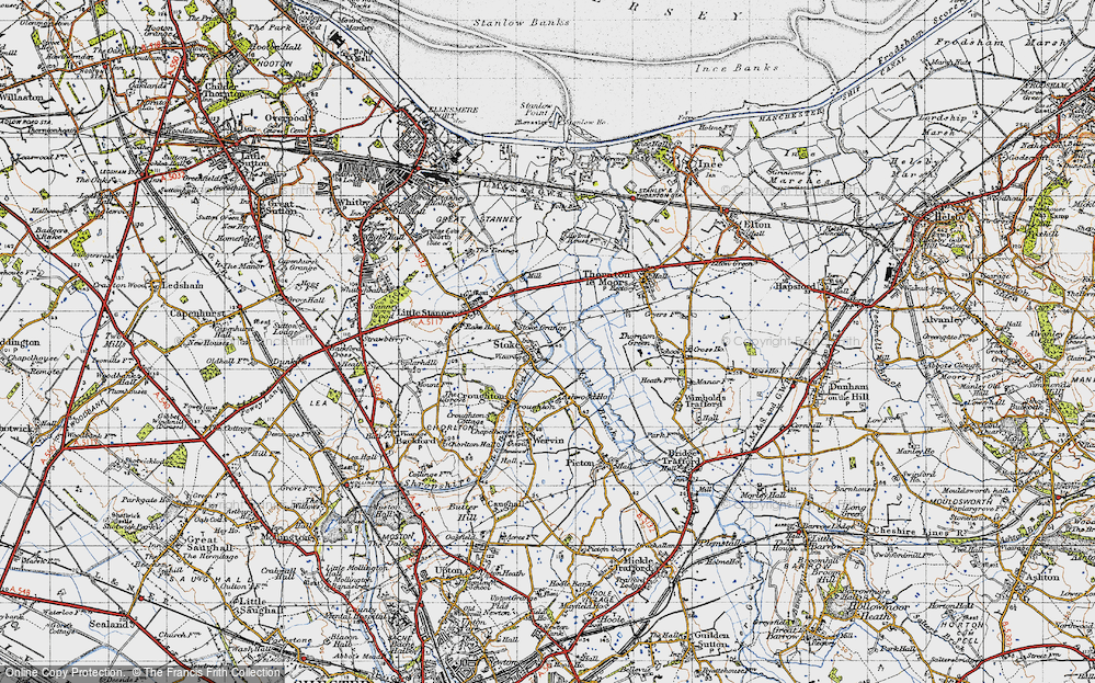 Old Map of Historic Map covering Ashwood Ho in 1947