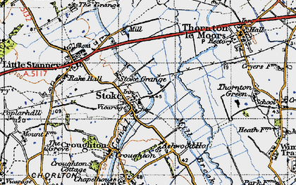 Old map of Ashwood Ho in 1947