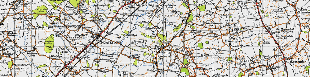 Old map of Stock in 1946