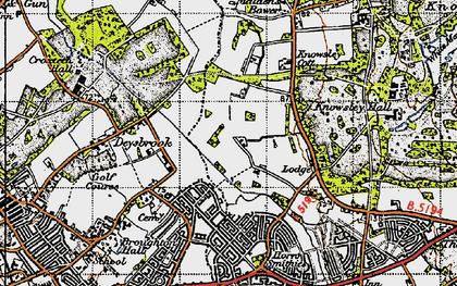 Old map of Stockbridge Village in 1947