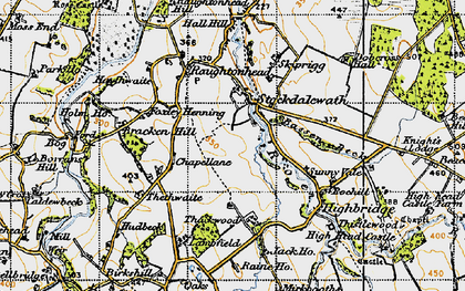 Old map of Stockdalewath in 1947