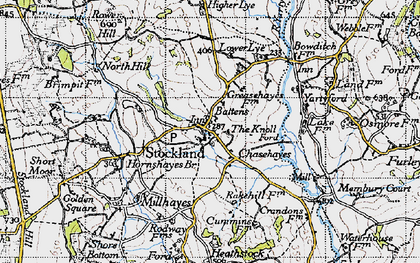 Old map of Yartyford in 1946