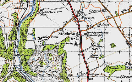 Old map of Leavenhalls, The in 1946