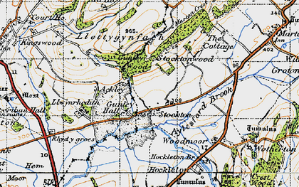 Old map of Aylesford Brook in 1947