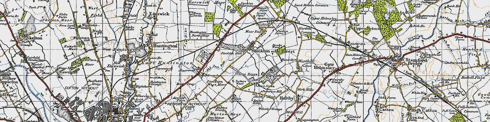 Old map of Willow Grove in 1947