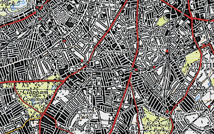 Old map of Stockwell in 1945