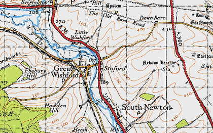 Old map of Stoford in 1940