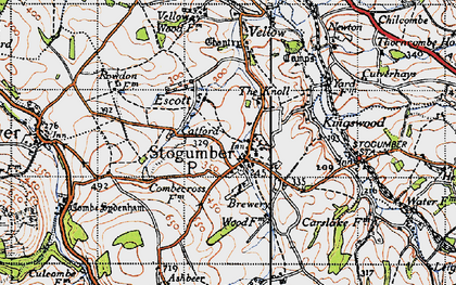 Old map of Stogumber in 1946