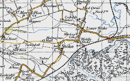 Old map of Stoke in 1946