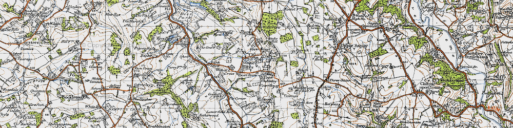 Old map of Wolferlow Park in 1947