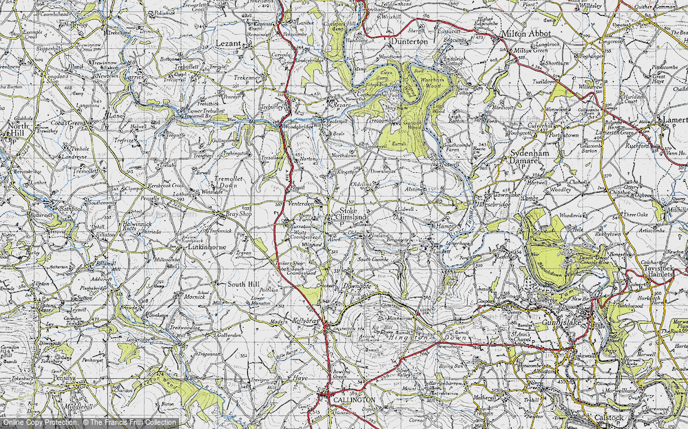 Old Map of Stoke Climsland, 1946 in 1946