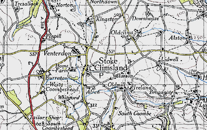 Old map of Stoke Climsland in 1946