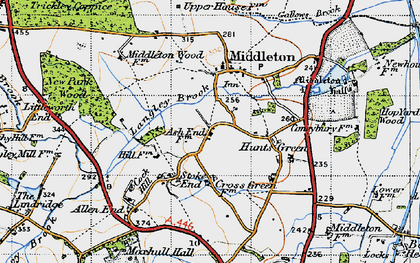 Old map of Langley Brook in 1946