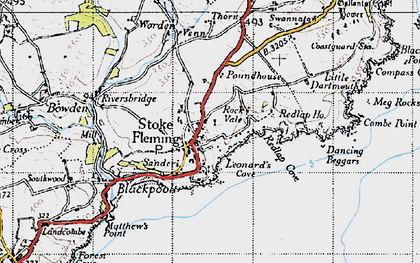 Old map of Leonard's Cove in 1946