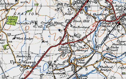 Old map of Avoncroft Mus in 1947