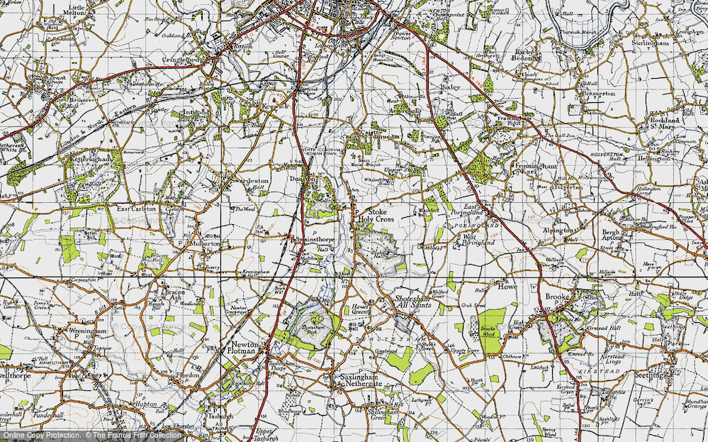 Map of Stoke Holy Cross, 1946 - Francis Frith