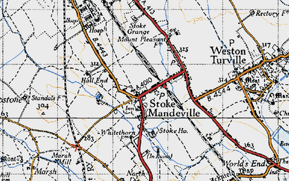 Old map of Stoke Mandeville in 1946