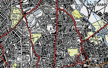 Old map of Stoke Newington in 1946