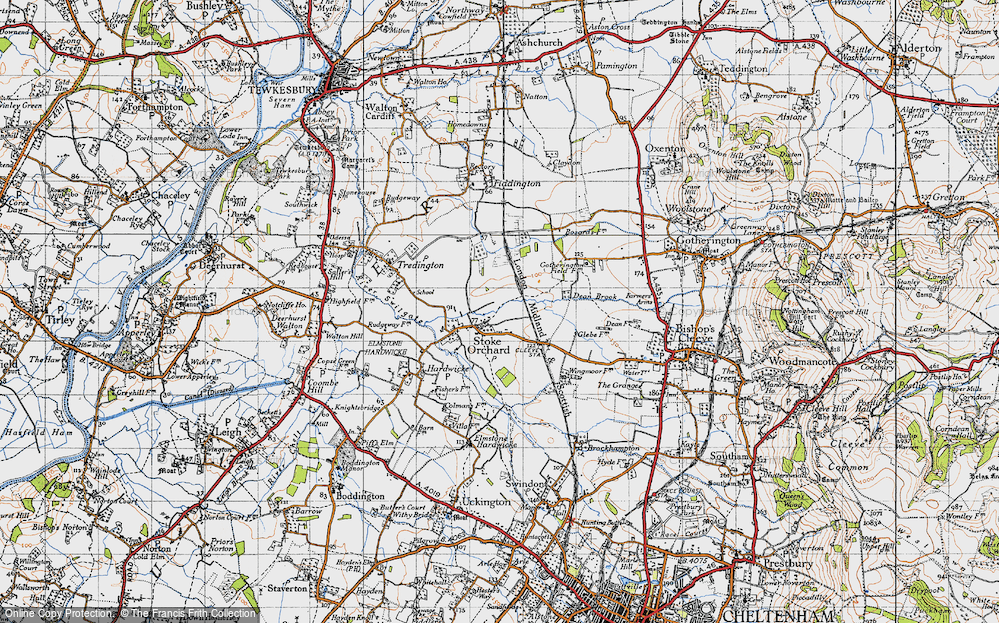 Old Map of Stoke Orchard, 1946 in 1946