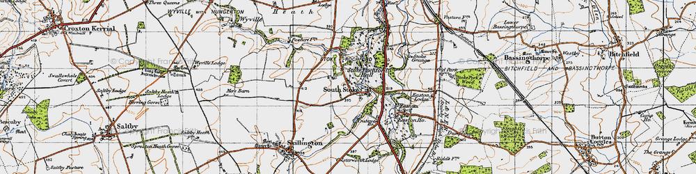 Old map of Stoke Rochford in 1946