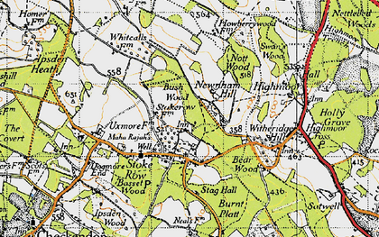 Old map of Wyfold Court in 1947