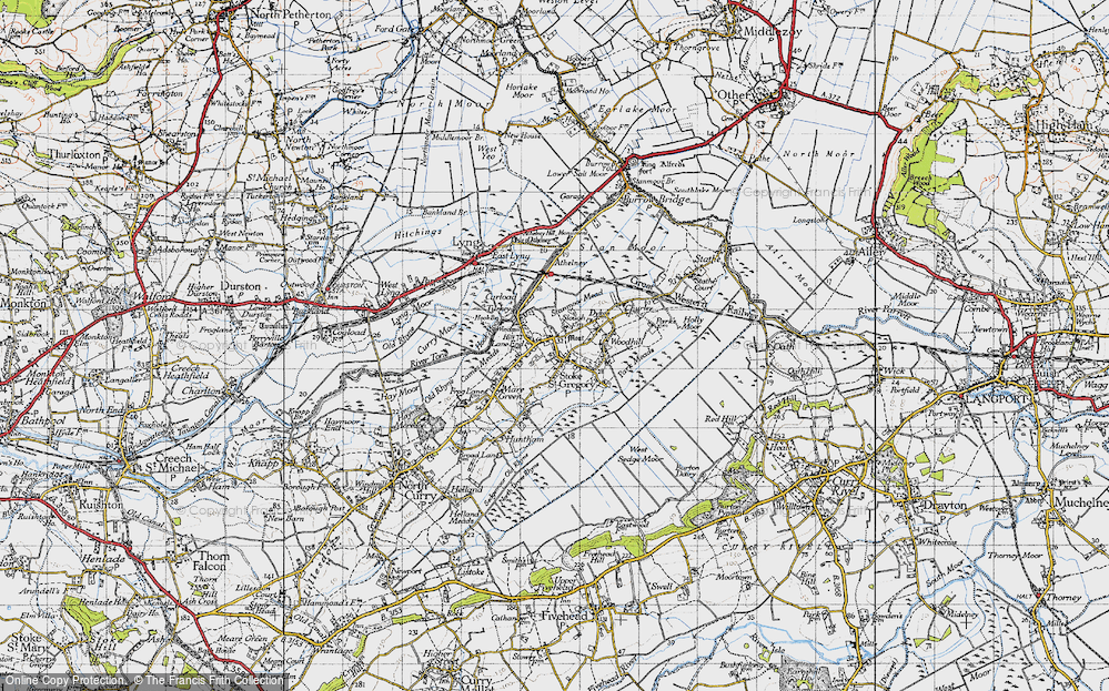 Old Map of Stoke St Gregory, 1945 in 1945